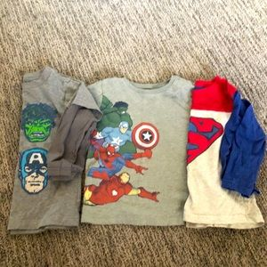3 piece marvel T shirt bundle 3T